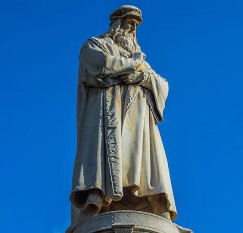 Leonardo da Vinci in Milan City Walk